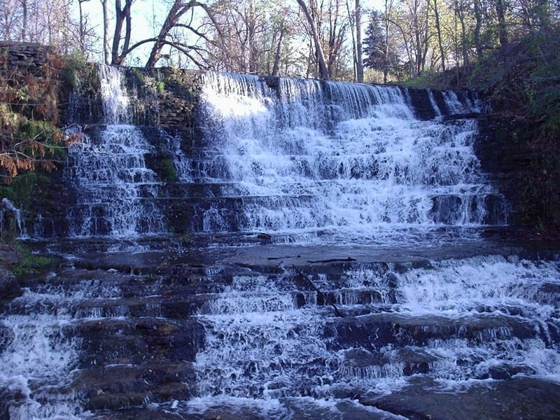 Burnt Shanty Clearing, Small Cascades on trail to – Bakers Mills, Warren